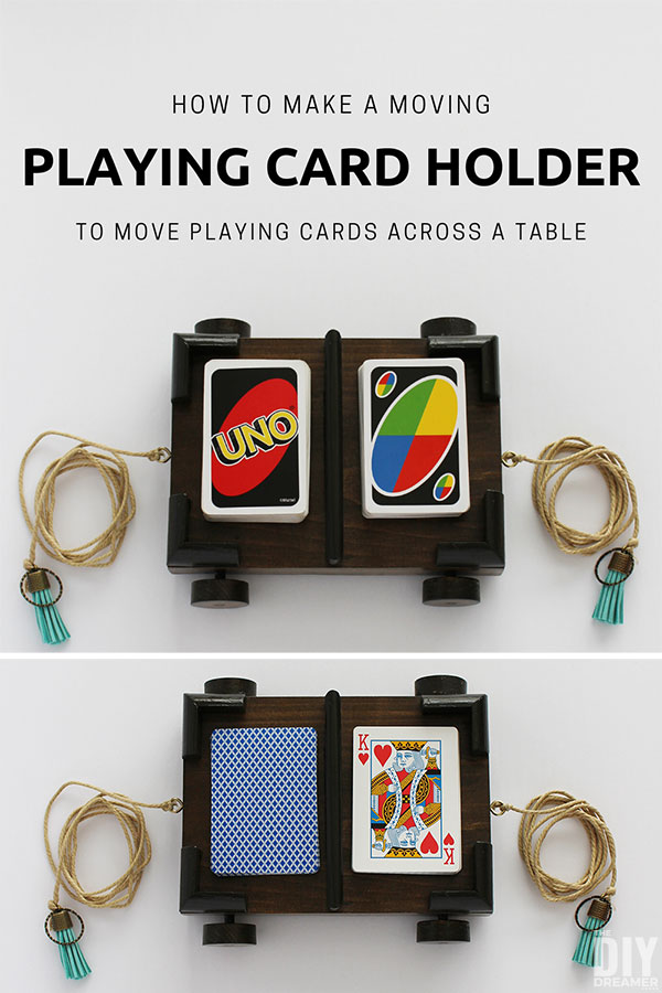 how to make a moving playing card holder  the diy dreamer