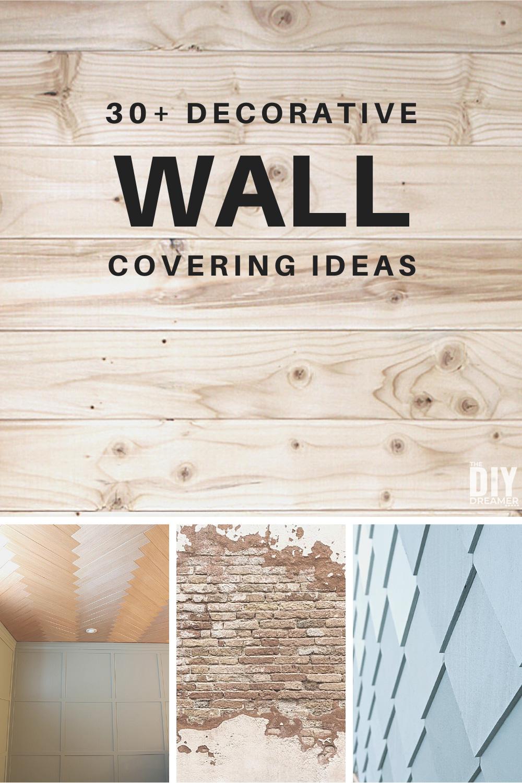 30 Diy Wall Covering Ideas Decorative Walls The Dreamer